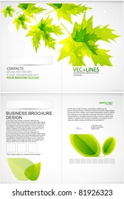 Green leaves summer template