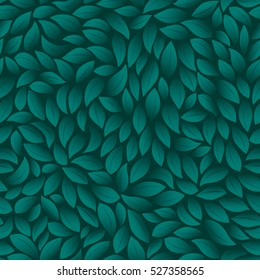 Green leaves texture pattern background. Seamless Vector illustration.