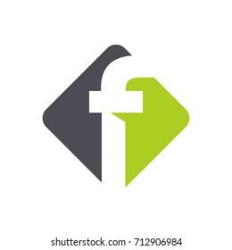green letter f logo