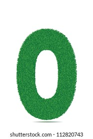 Green letter O. Vector