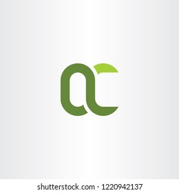 green letter q and c qc vector logo