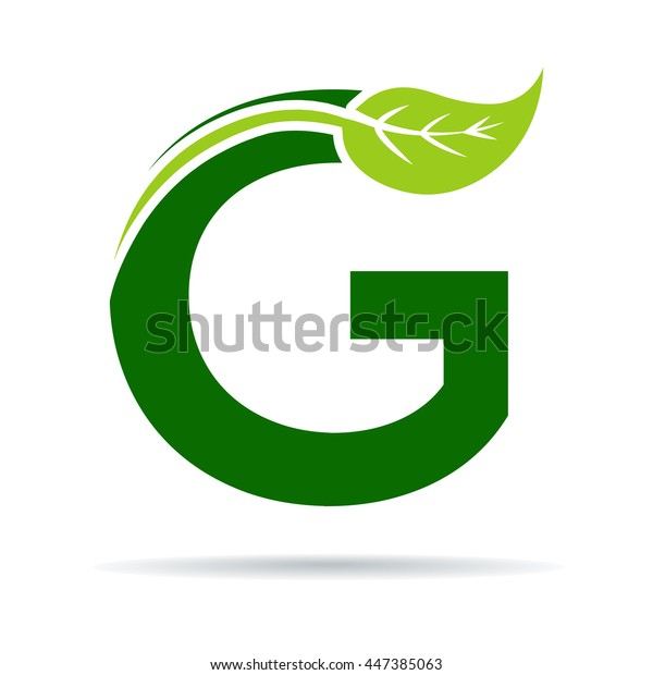 Green letters G logo with leaves.