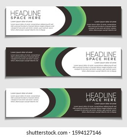 Green Light Gradient Wavy, Wave, Liquid, Fluid Modern Abstract Web Banner for Header, Advertising, Publication.Blank Space Design Vector Template,