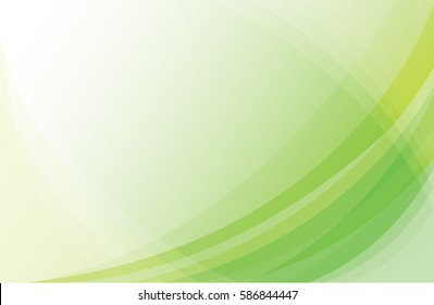 Green Light Wave Abstract Background