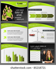 Green lime and black business Template. Vector illustration.