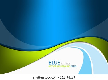 Green line background on blue modern graphic background for texture and pattern design. message board for text and message design , vector