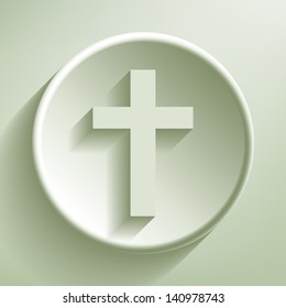 Green line circle icon, vector eps10 illustration