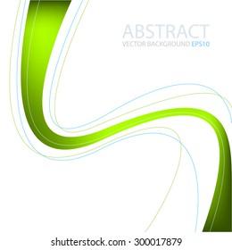 Green line vector background