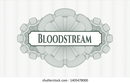 Green linear rosette with text Bloodstream inside
