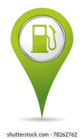 green location gas pump icon