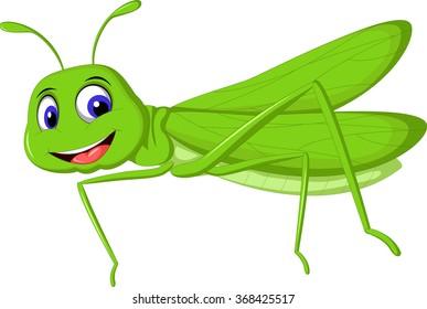 green locust cartoon