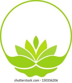 Green lotus symbol