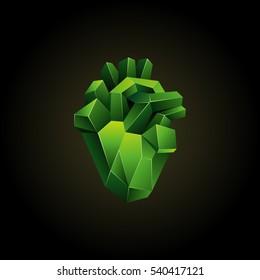 Human Heart Polygonal Stock Vectors Images Vector Art