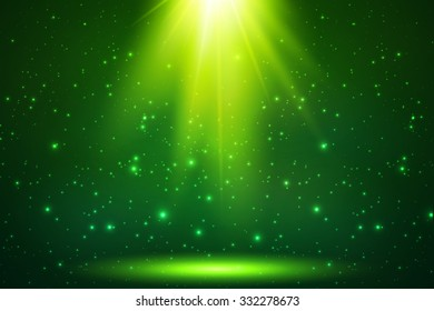 Green magic top light vector background