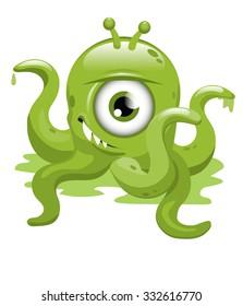 Green Malevolent Alien