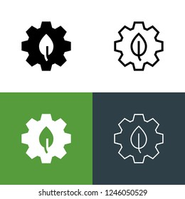 Green Manufacturing Icon Set