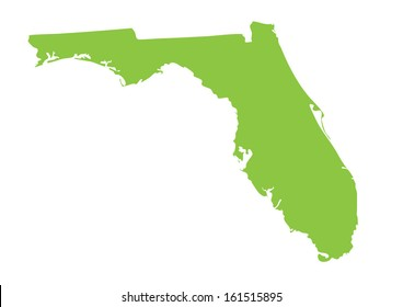 green map of Florida