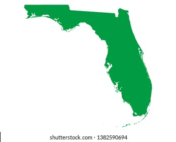 Florida Map Images, Stock Photos & Vectors | Shutterstock on