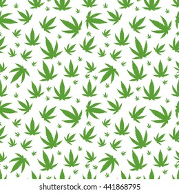 Green marijuana background vector illustration
