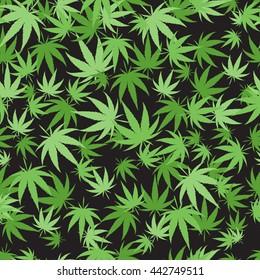 Green marijuana background vector illustration