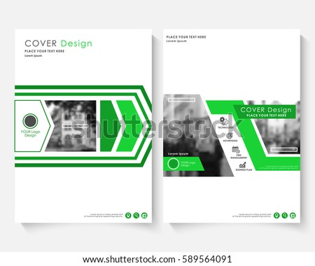 Green Marketing Cover Design Template For Annual Report Modern Minimalist Business Powerpoint Concept Booklet