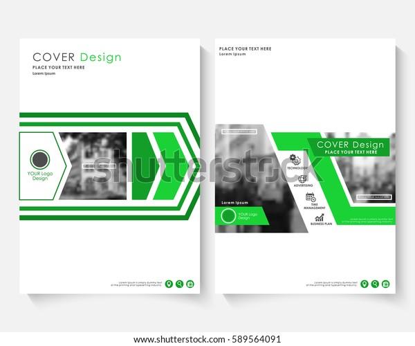 Green Marketing Cover Design Template Annual Stock Vector
