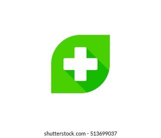 Green Medical Logo Design Template Element