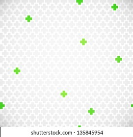 Green medical seamless pattern with crosses