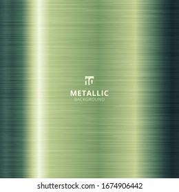Green metallic metal polished background and texture. Vector illustration