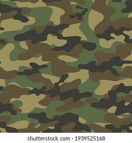 green military camouflage vector seamless pattern