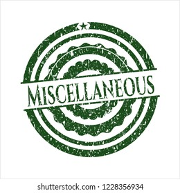Green Miscellaneous distress rubber grunge texture stamp