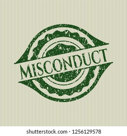 Green Misconduct rubber grunge seal