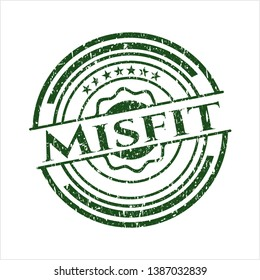 Green Misfit rubber grunge stamp