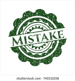 Green Mistake distress grunge style stamp