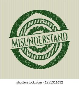 Green Misunderstand distressed rubber grunge stamp