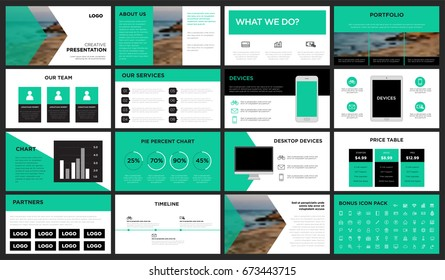 Green modern presentation template. You can use it presentation, flyer and leaflet, corporate report, marketing, pitch, annual report, catalog.