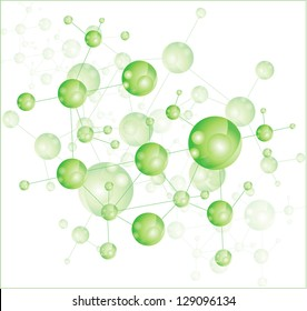 Green molecule illustration