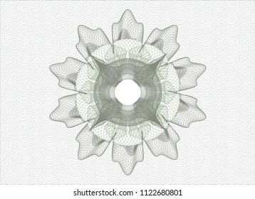 Green money style rosette