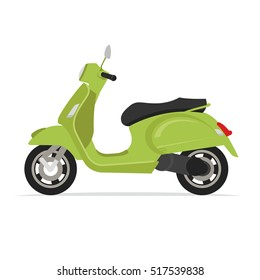 green moped scooter motorcycle