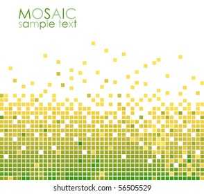 Green mosaic VECTOR