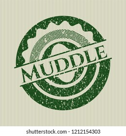 Green Muddle rubber grunge texture seal