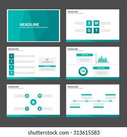 Green Multipurpose Infographic elements and icon presentation template flat design set for advertising marketing brochure flyer leaflet