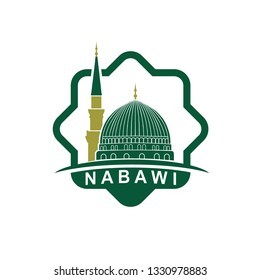 green nabawi mosque illustration masjid nabawi stock vector royalty free 1330978883 green nabawi mosque illustration masjid