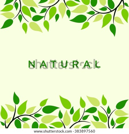 green natural background fresh concept go stock vector royalty free
