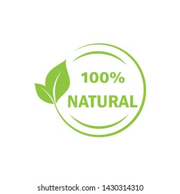 Green natural stamp illustration., premium quality -Vector