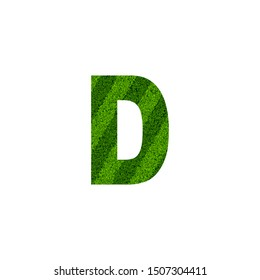 Green Nature Letter D logo icon. Creative   Design Letter D Logo on green grass element concept