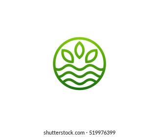 Green Nature Logo Design Template