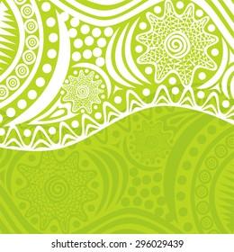 Green nature pattern background vector illustration
