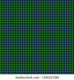 Green and Navy Houndstooth Seamless Pattern - Green and navy blue houndstooth design