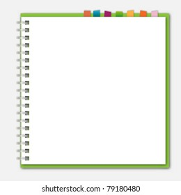 Green notebook bookmark